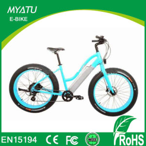 500W 1000W 26 Inch Wheel Hidden Battery Fat Tire Sport City Lady Electric Moped pictures & photos