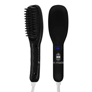 New Style 100-240V Electric Fast Hair Straightener Brush LCD pictures & photos