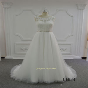 Lace Sleeveless A-Line Tulle Wedding Dress pictures & photos