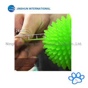 TPR Bouncy Floating Teeth Cleaning Spiky Ball Squeaky Toy for Dogs pictures & photos