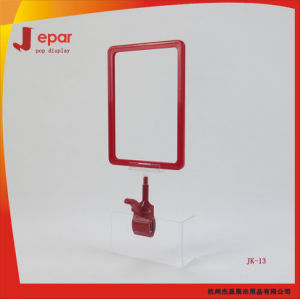 Free Sample Supermarket Pop Promotional Menu Price Plastic Sign Holder pictures & photos