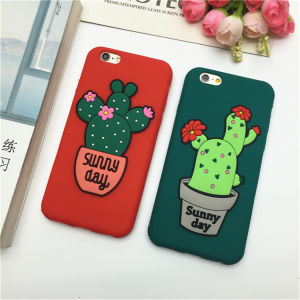 New Design Potted Cactus Silicone Cell Phone Case Soft Back Cover for iPhone6 / Plus (XSF-083) pictures & photos