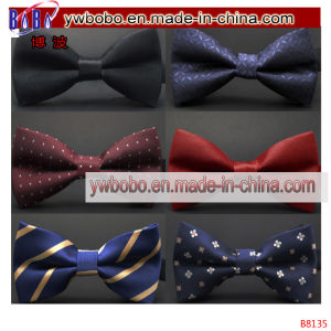 Wedding Formal Adjustable Satin Striped Bow Tie Neckties (B8135) pictures & photos
