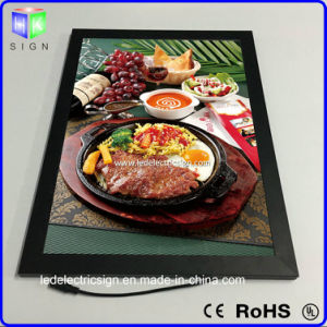 Aluminum Snap Frame Menu Board Light Box Picture Frame with Acrylic Sheet LED Sign pictures & photos