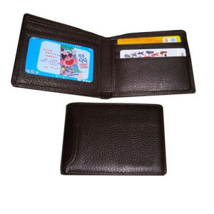 PU/PVC Leather Business Men Wallet with Customized Logo pictures & photos
