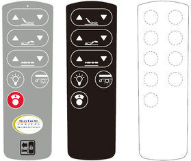High Performance Membrane Switch Overlay Glossy for Remote Controller Keypad pictures & photos