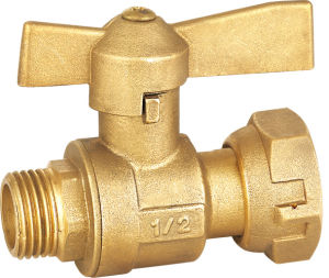Male Thread Union Brass Butterfly Stop Valve pictures & photos