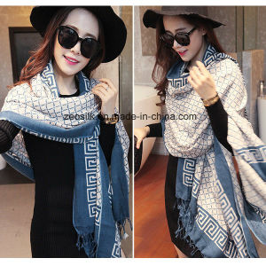 Fashion Women Larger Long Wool Scarves Zeo-056 pictures & photos