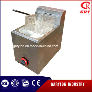 Hot Selling Stainless Steel Gas Deep Fryer (GRT-G10L) pictures & photos