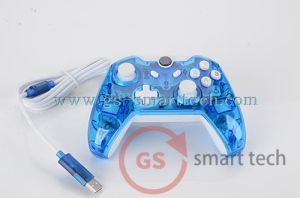 Double Vibration Wired Transparent Flash Game Controller for Xboxone pictures & photos