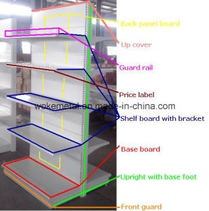 Tego Metal Supermarket Shelf, Gondola Supermarket Shelving pictures & photos