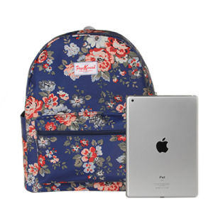 Three Sizes Waterproof British Floral Canvas Backpack (23182) pictures & photos