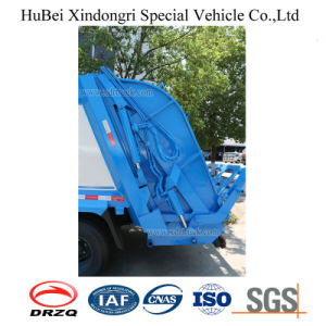 5cbm Dongfeng hydraulic Automatic Loading Euro 4 Barrel Turning Garbage Compactor Truck pictures & photos