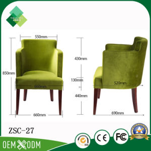 Luxurious High Back Wing Chair for Apartment in Beech (ZSC-27) pictures & photos