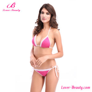 White and Rose Red Sexy Mature Bikini Swimwear
