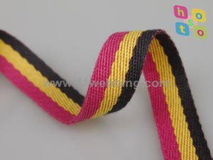 Polyester Webbing with Different Color Strip for Bag pictures & photos
