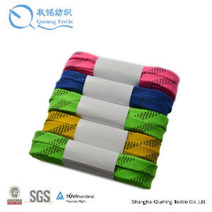 Wholesale Wide Colored Sports Flat Custom Hockey Skate Laces pictures & photos
