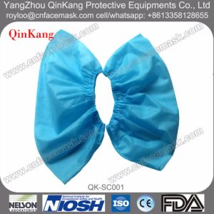 Disaposable Non Woven PP/PE/PU/CPE/PP+CPE Waterproof Shoe Cover pictures & photos