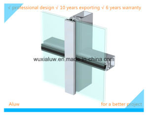 Envirmental Protection Semi-Invisible Curtain Wall pictures & photos