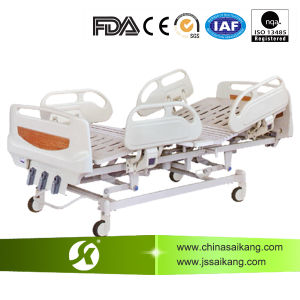 3 Cranks Manual Hospital Bed with ABS Railing