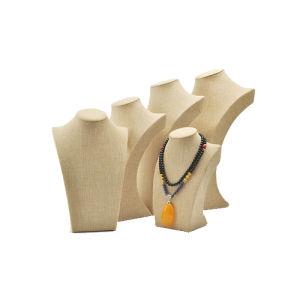 Beige Linen Jewelry Display Bust Wholesale (N-BL--K1-K5)