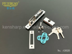 43020 Aluminum Sliding Door Lock with Brass or Zinc Cylinder 3keys pictures & photos