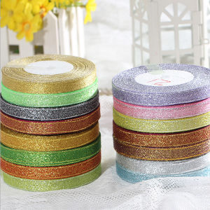 Promotion Polyester Wedding Decoration Silver Satin Ribbon pictures & photos