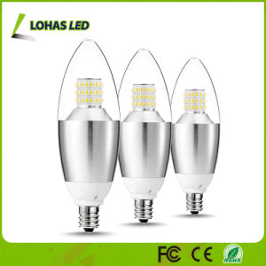 Europe Market SMD LEDs 3W 5W 6W Dimmable Chandelier LED Candle Light Bulb pictures & photos