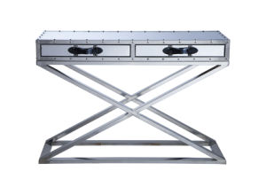 Classic Stainless Steel with Drawers Console Table, Cross Steel Console Rtk-92-2 pictures & photos