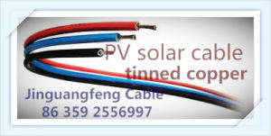 TUV Certification PV1-F 4mm2/6mm2 PV Solar Cable pictures & photos