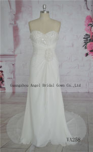 Chiffon Bead Wedding Dress, Bridal Gown for Wedding pictures & photos