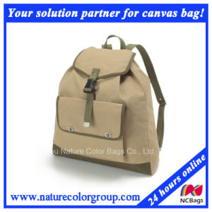 Canvas Book Bag School Backpack for Student pictures & photos