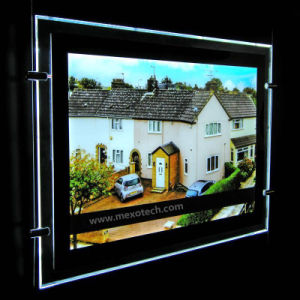 Acrylic LED Light Pockets for Estate Agent Window Display pictures & photos