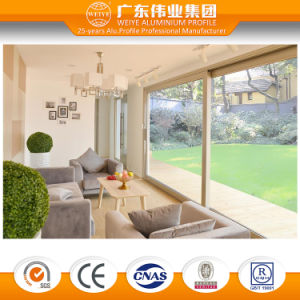 High Quality Double Tempered Glass Thermal Break Aluminum Sliding Door pictures & photos