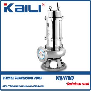 WQ/JYWQ Integral Stainless Steel Sewage Submersible Pump for Dirty Water pictures & photos