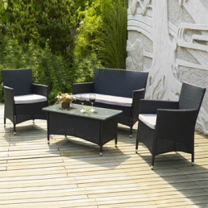 Outdoor Garden Paito Wicker Furniture Sitting Room Cafe Bistro Rattan Sofa Set pictures & photos