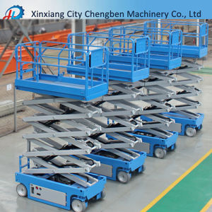 6-12m Movable Electric Hydraulic Scissor Lift Aerial Work Lift Table pictures & photos