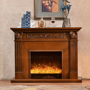 Ce Approved European sculpture LED Lights Heating Electrical Fireplace (321B) pictures & photos
