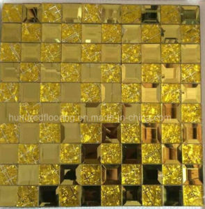 Gold Diamond Glass Mosaic for Wall Tile, Diamond Mosaic Tile Mirror Mosaic (HD087) pictures & photos