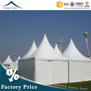 High Peak 5mx5m Waterproof Wedding Pagoda Tent with Romantic Curtains pictures & photos