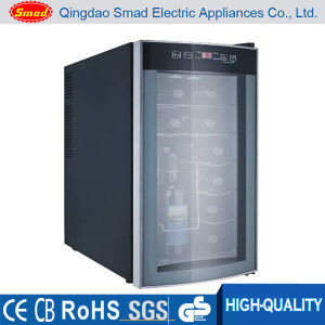 No Noise Glass Door Semi-Conductor Wine Cooler Without Compressor pictures & photos