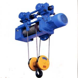 1t Md Double Speed Wire Rope Electric Hoist pictures & photos