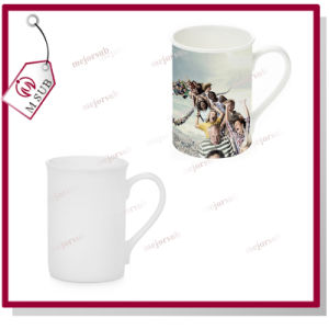 10oz White Bone Mug with Curled Rim pictures & photos