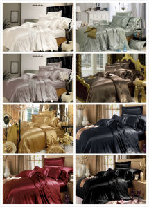 Taihu Snow Silk Most Luxurious Soft Comfortable Smooth Natural 100% Mulberry Silk Bedding Set pictures & photos