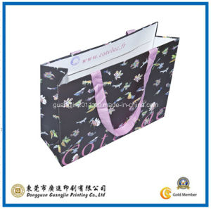 Garment Black Paper Carrier Bag (GJ-Bag364) pictures & photos