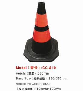 500mm Height Plastic Traffic Safety Cone pictures & photos