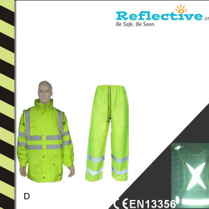Yolite Reflective Safety Raincoat for Rain pictures & photos