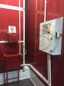 Wld8400 Automotive Paint Spray Booth with Water Based Paint System pictures & photos