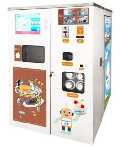 Bill and Coin operated Vending Soft Ice Cream Machine pictures & photos