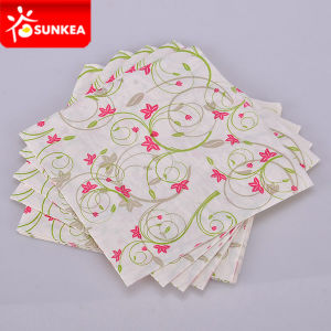 1 Ply 2 Ply 3 Ply Art Flower Design Printed Paper Napkin pictures & photos